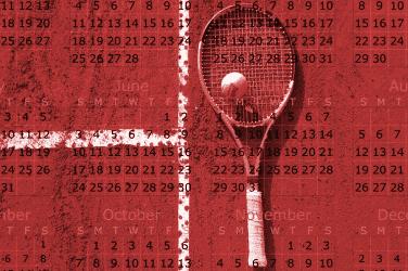 calendário do tênis - confira a programação do tênis, de janeiro a dezembro